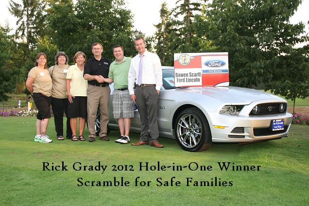 2012 Hole-in-one winner Rick Grady in black text
